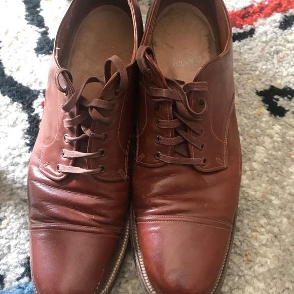 Vintage Mens Shoes Leather Sole